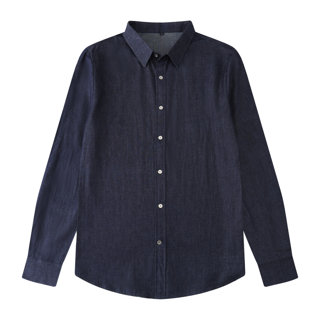 Soft Denim Button Shirt In Blue