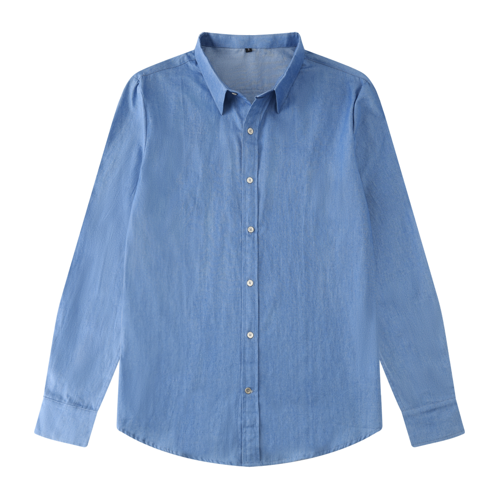 Soft Denim Button Shirt In Light Blue
