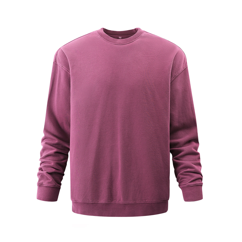 Pigment Dye Oversized Sweatshirt In Burgundy