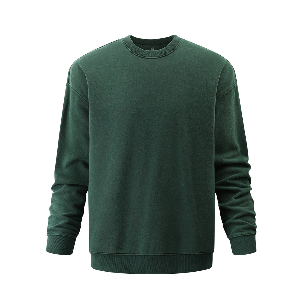 Pigment Dye Oversized Sweatshirt In Green