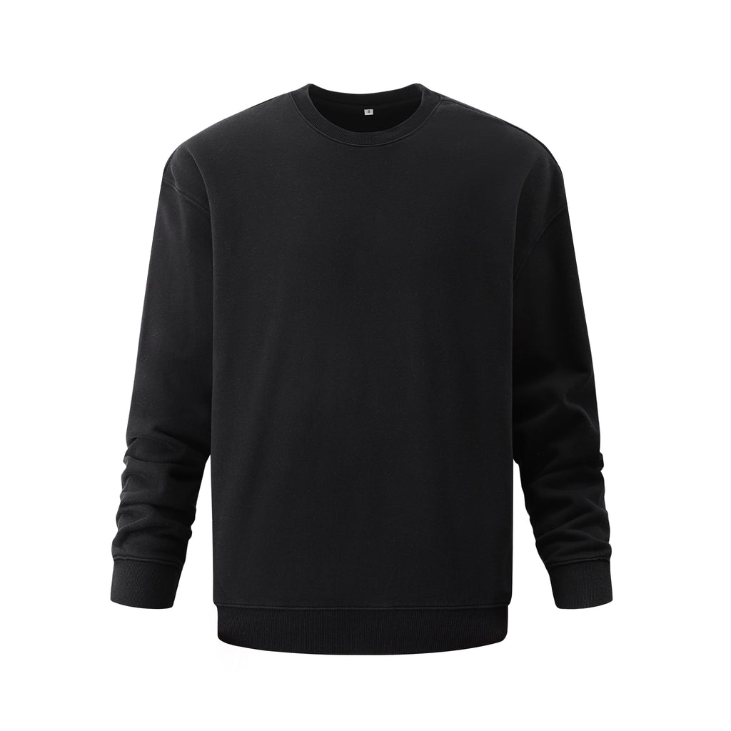 Pigment Dye Oversized Sweatshirt In Black