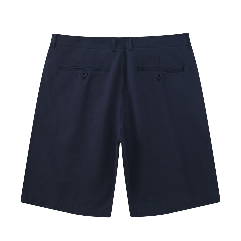 Casual Slim Chino Shorts In Navy Blue