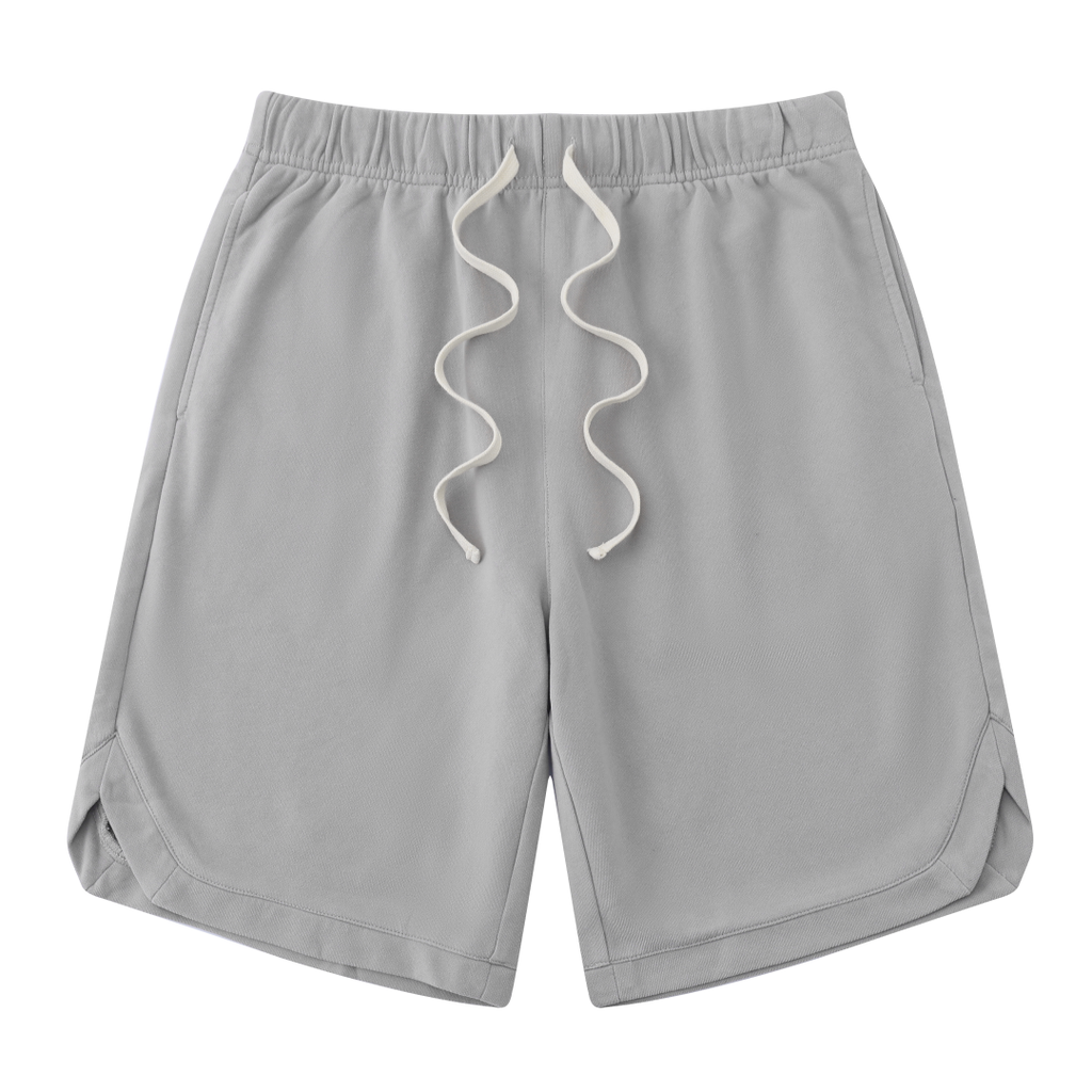 Vintage Cotton Shorts In Light Gray