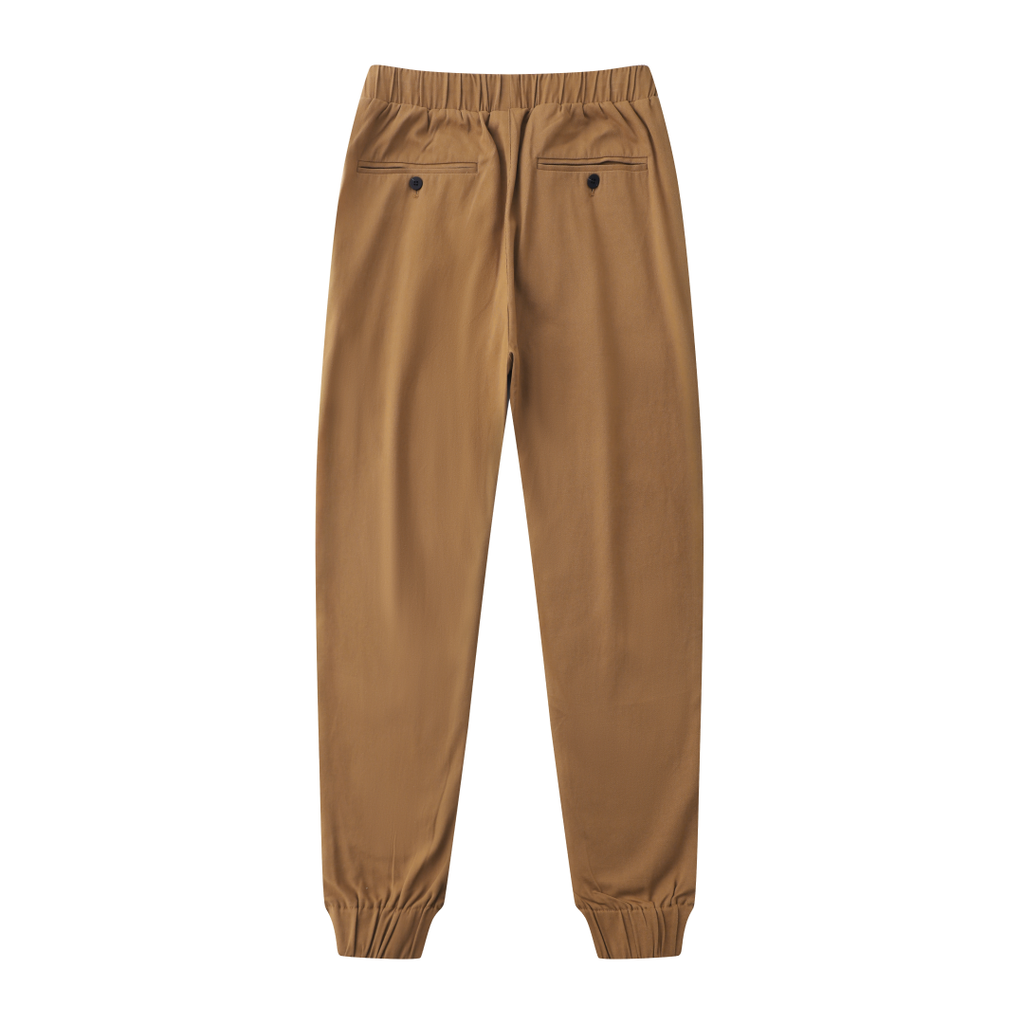 Casual Slouchy Fitted Joggers In Khaki