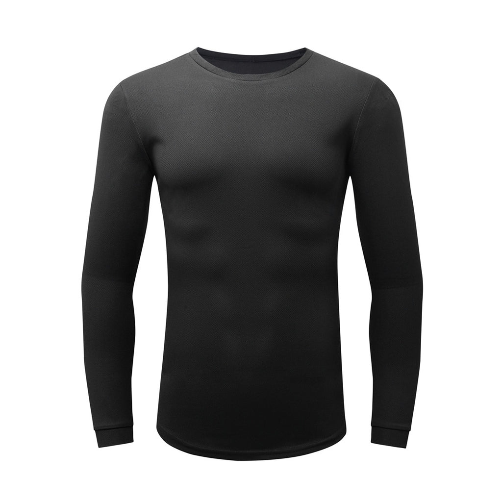 Basic Gym Long Sleeve T-Shirt In Black