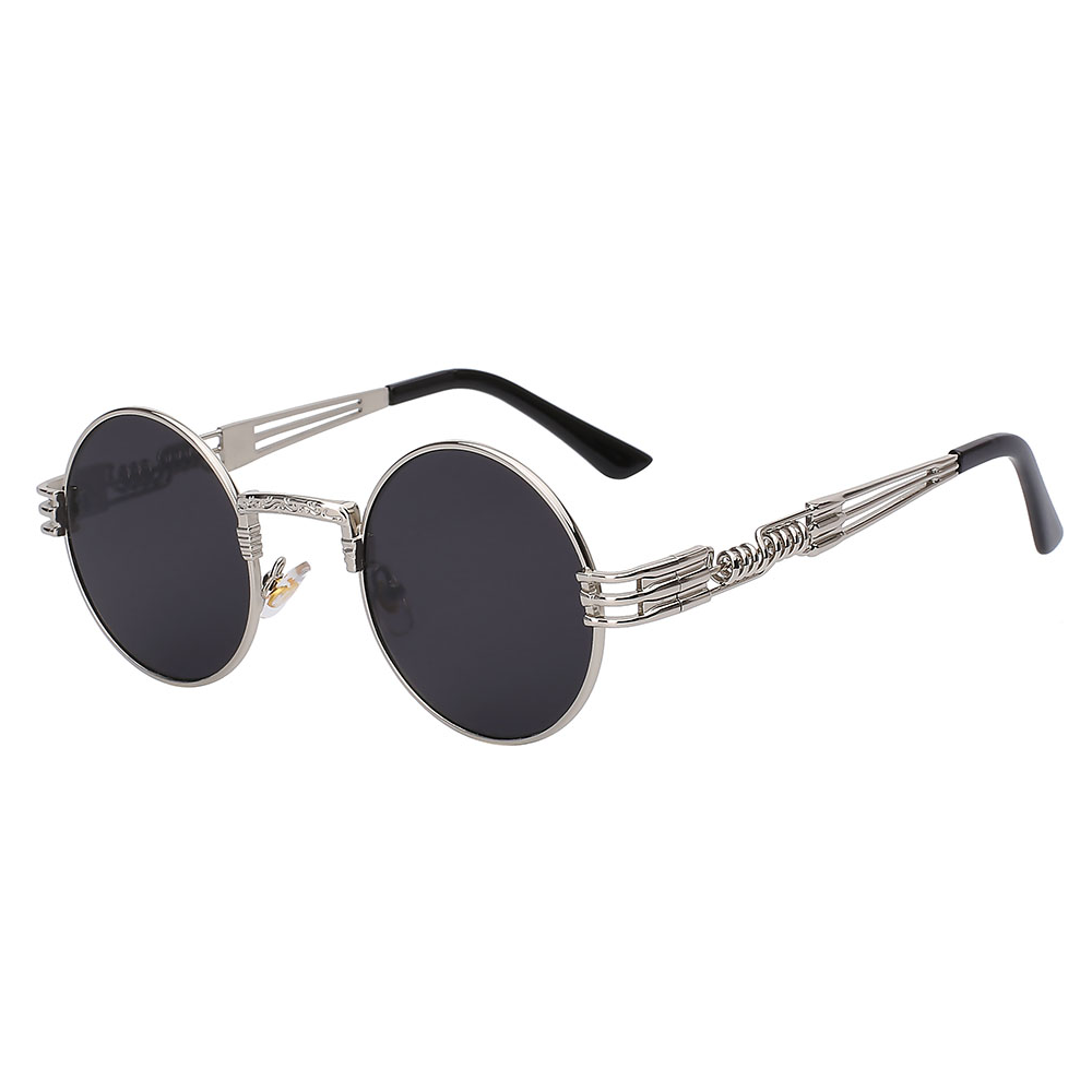 Retro Steampunk Sunglasses In Black
