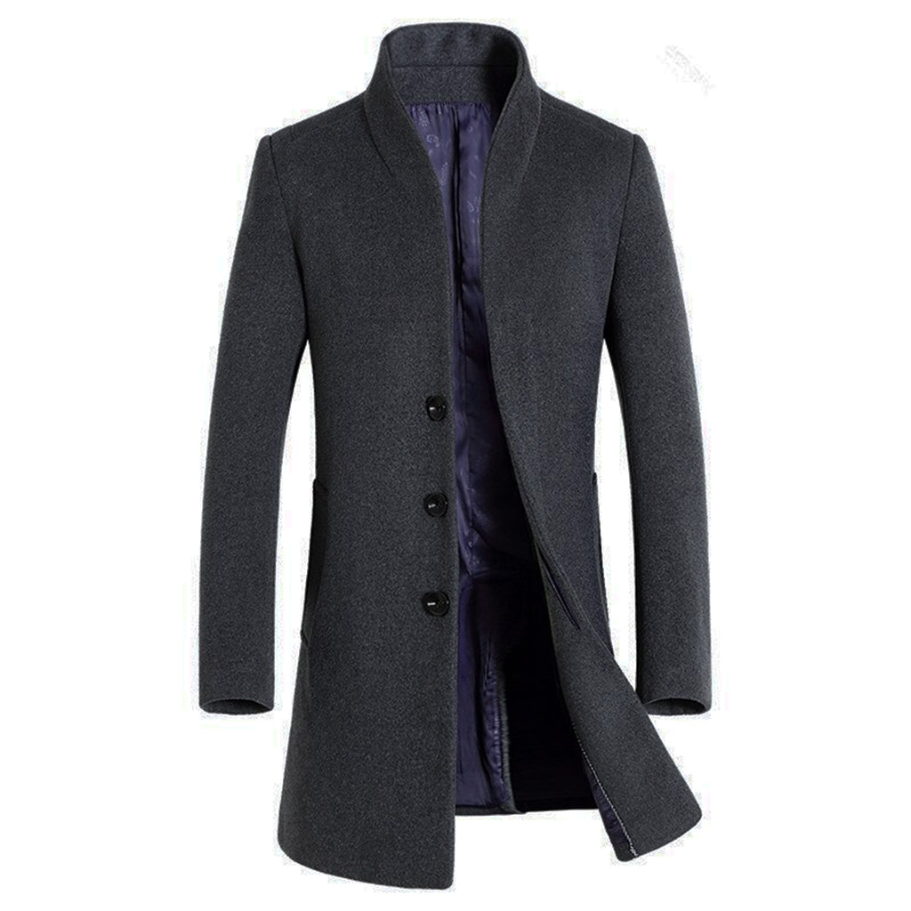 Official Businessman Coat In Gray