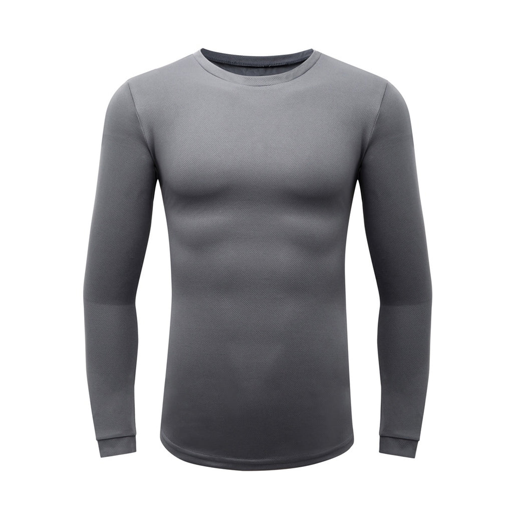 Basic Gym Long Sleeve T-Shirt In Gray