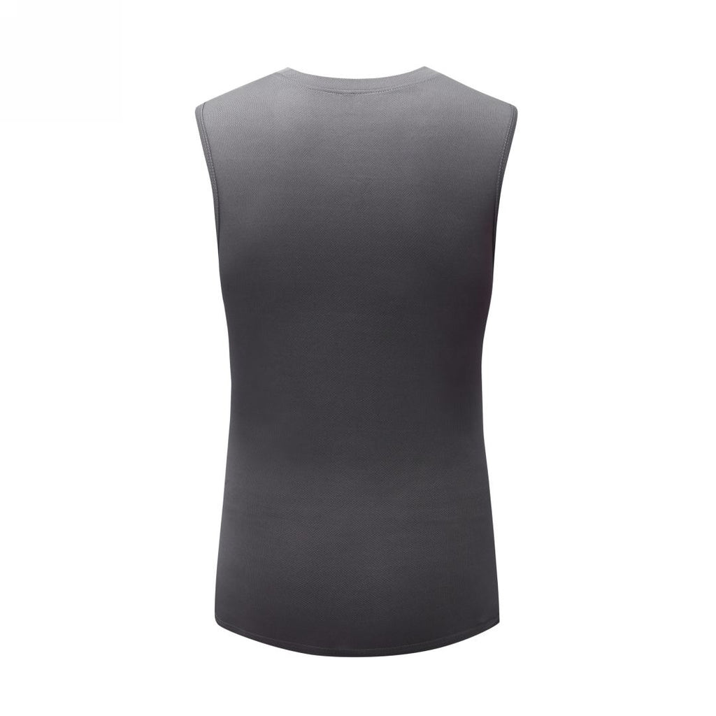 Basic Gym Sleeveless T-Shirt In Gray