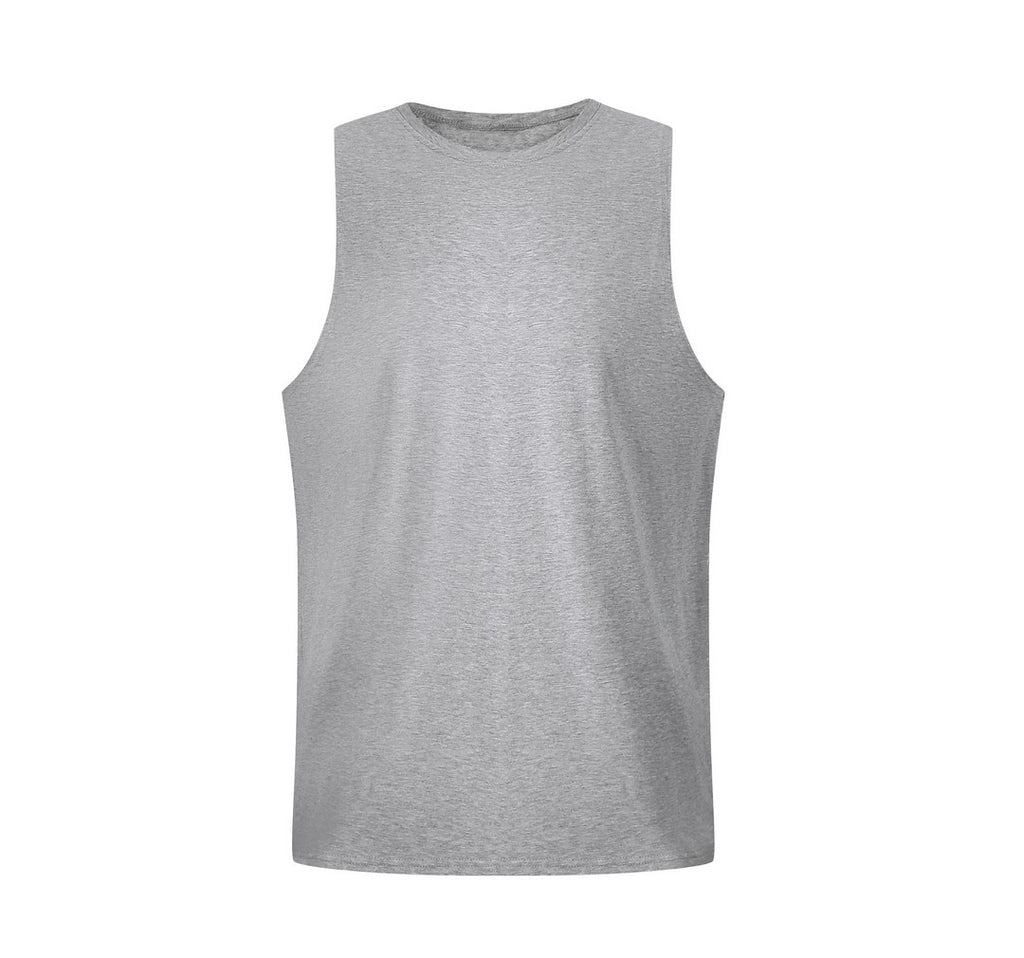 Basic Gym Tank Top In Gray