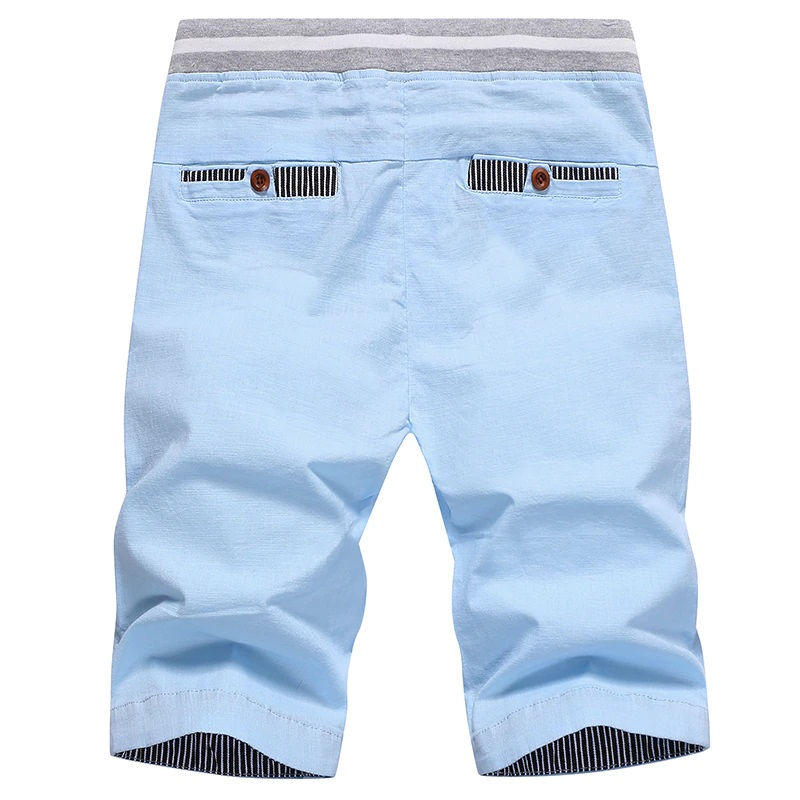 Solid Shorts In Light Blue