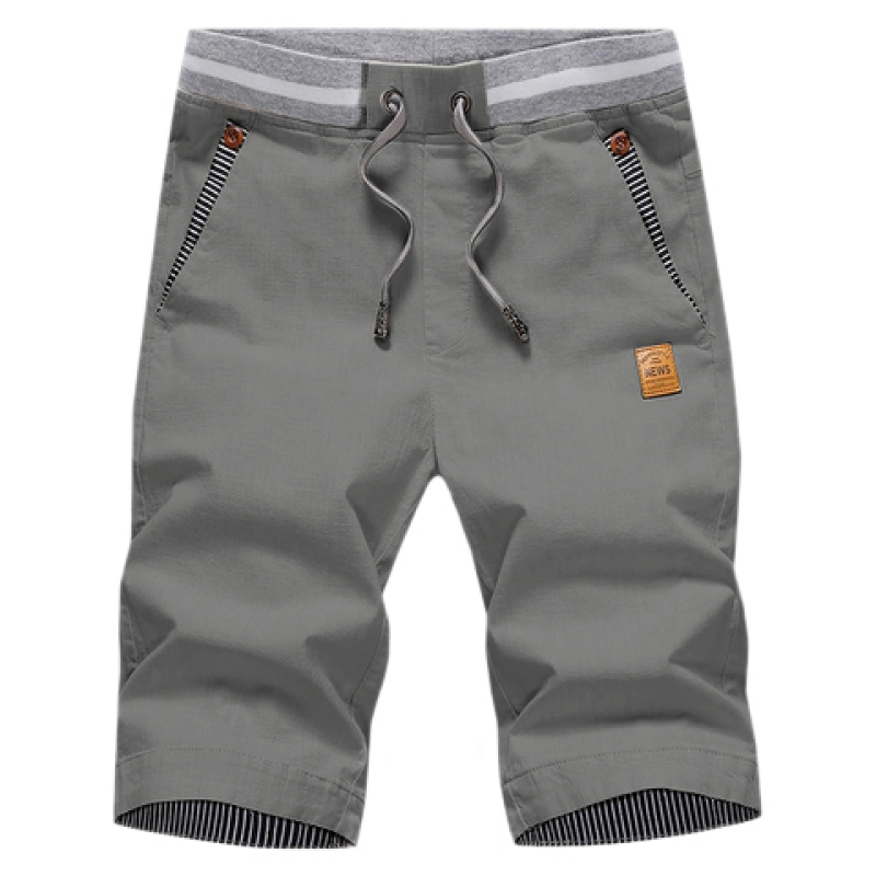 Solid Shorts In Gray