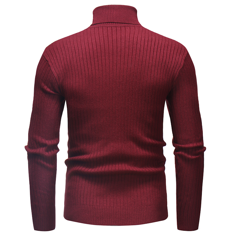 Knitted Roll Neck Sweater In Red