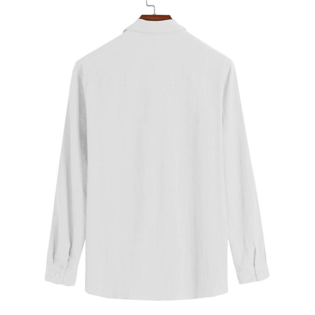 Light Button-Down Shirt In White