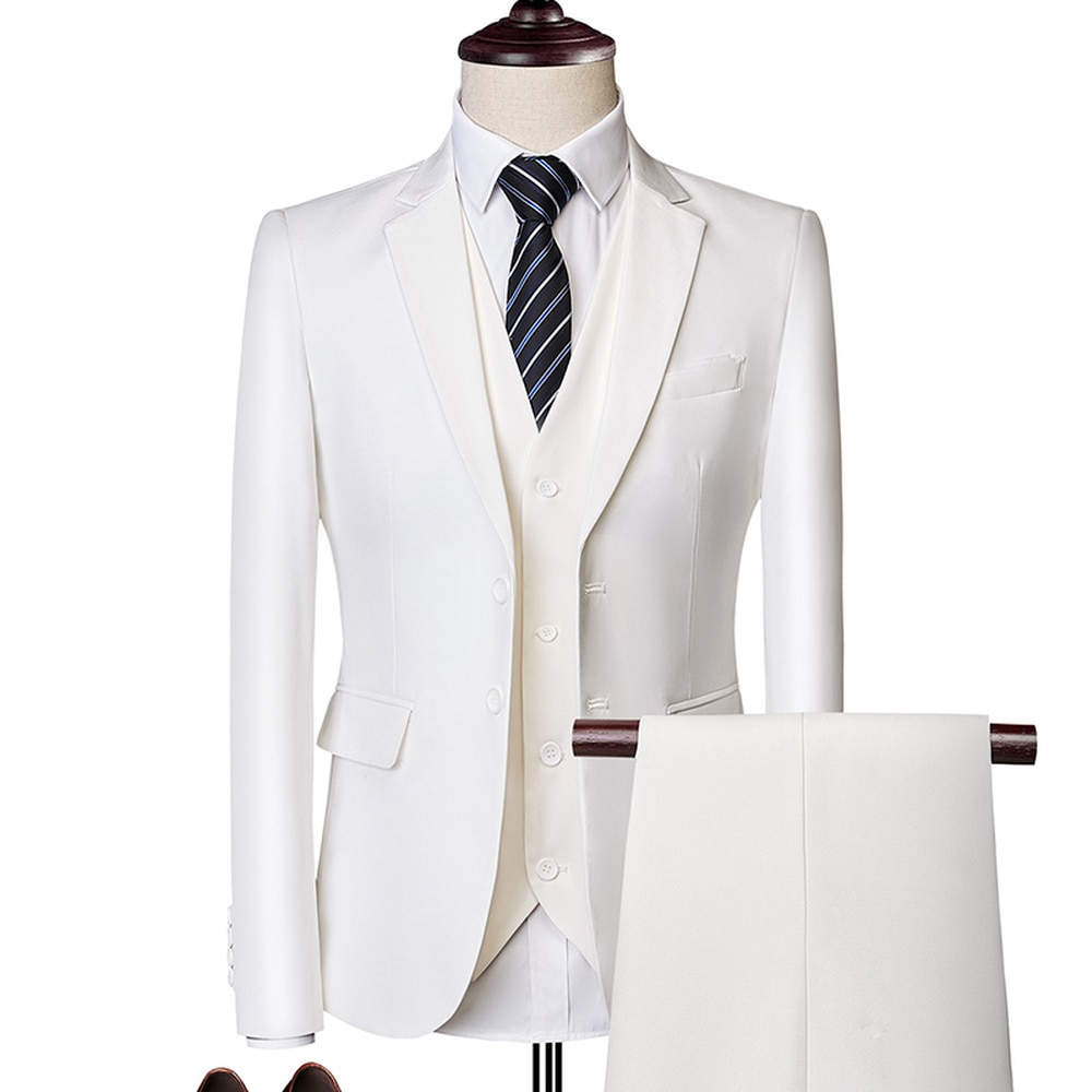 Colton Casual Suit In White