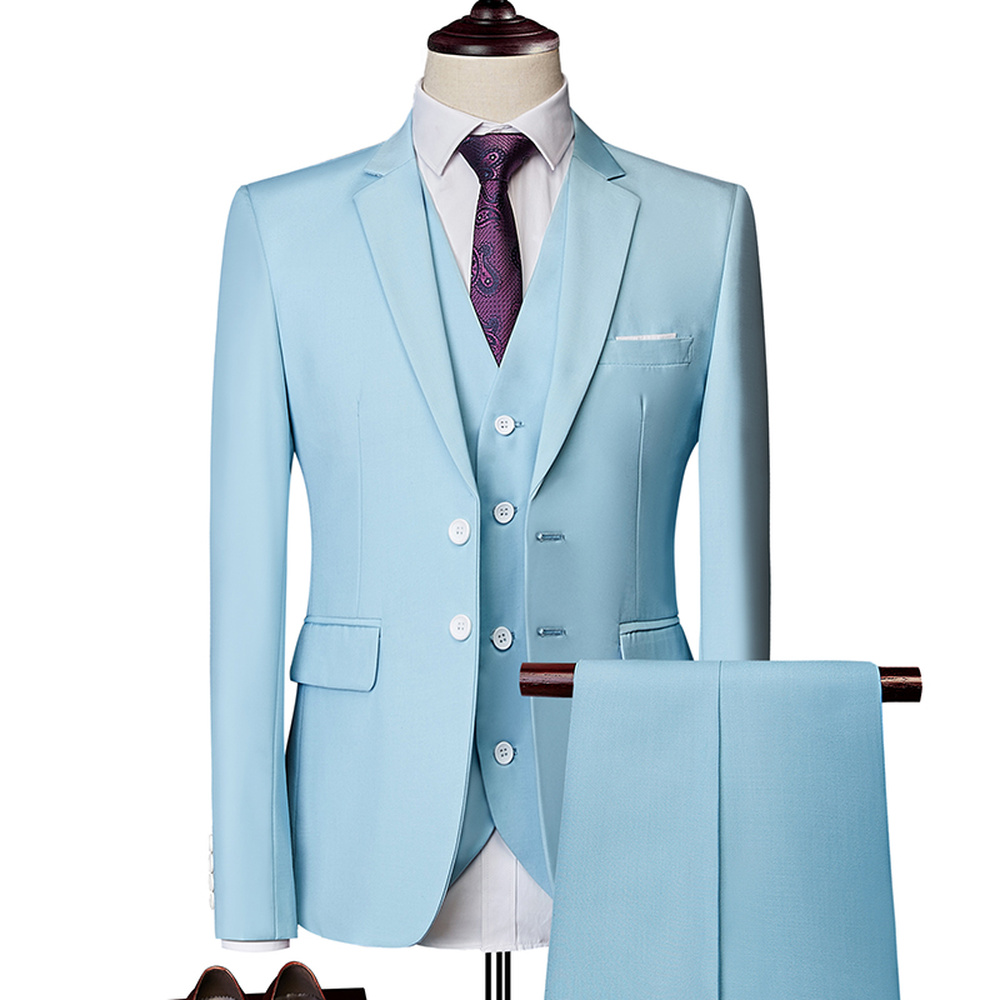 Colton Casual Suit In Sky Blue