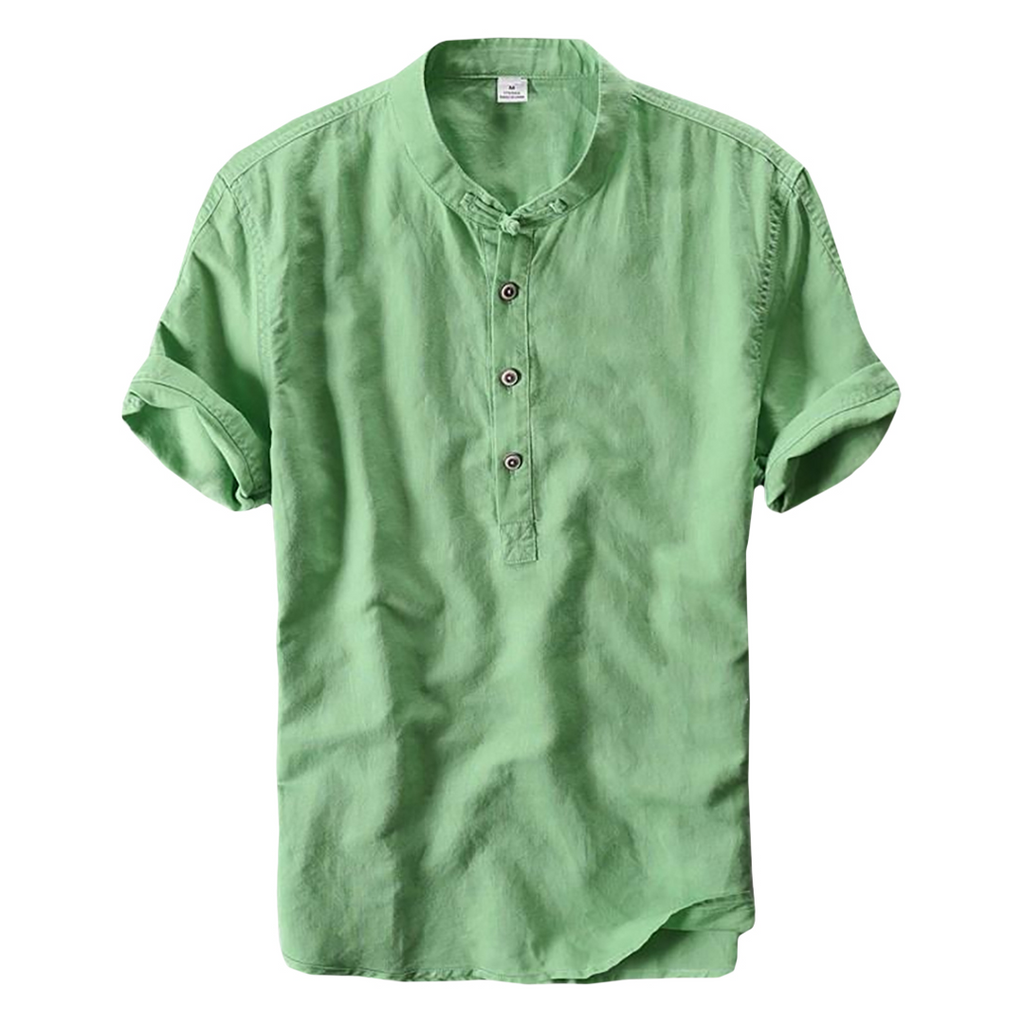 Mandarin Collar Shirt In Green