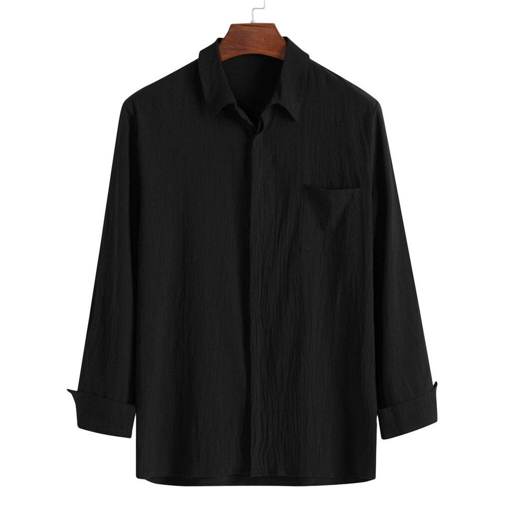 Light Button-Down Shirt In Black
