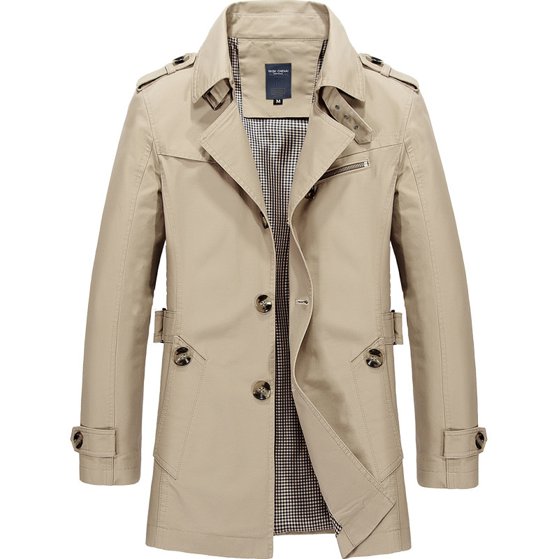 True Gentleman Coat In Light Khaki