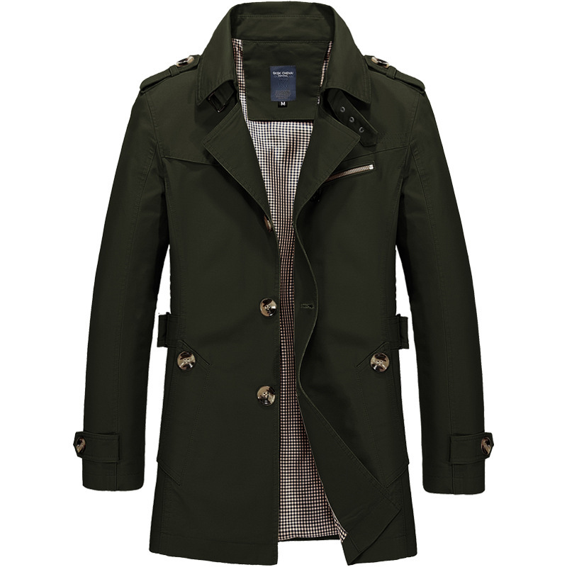 True Gentleman Coat In Army Green