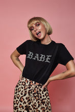 Load image into Gallery viewer, Babe Rhinestone Tee (Black)