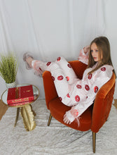 Load image into Gallery viewer, Lips N Kisses Pink Satin Pyjamas
