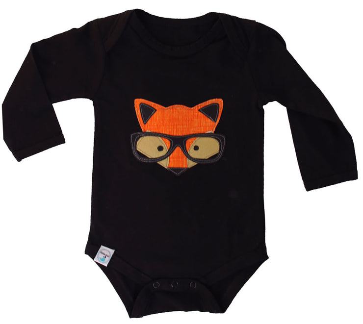 Franco Fox Long Sleeve Onesie