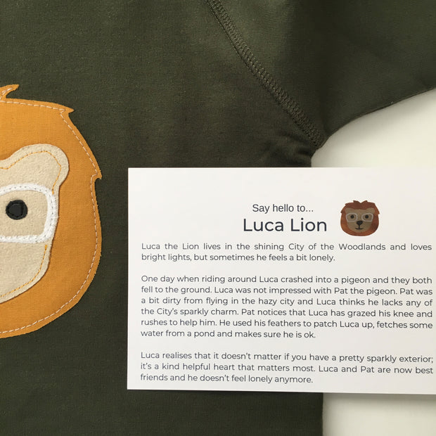 Luca Lion Long Sleeve Onesie