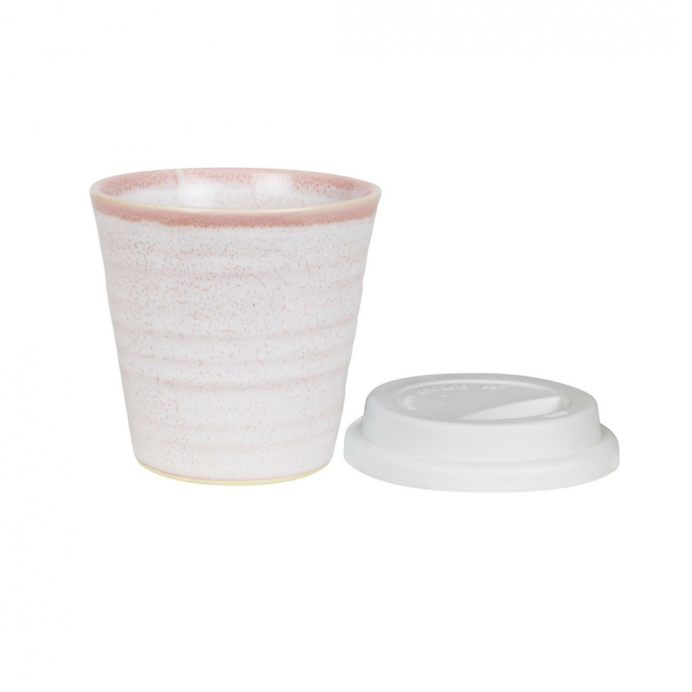 CERAMIC REUSABLE CUP - ROSE QUARTZ | 280ML