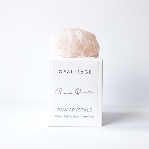 OPAL + SAGE - RAW CRYSTALS | CLEAR QUARTZ