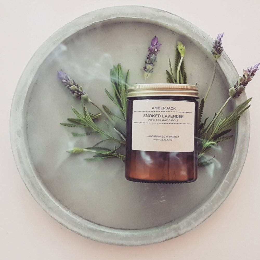 AMBERJACK - SMOKED LAVENDER - SOY CANDLE | 150GM