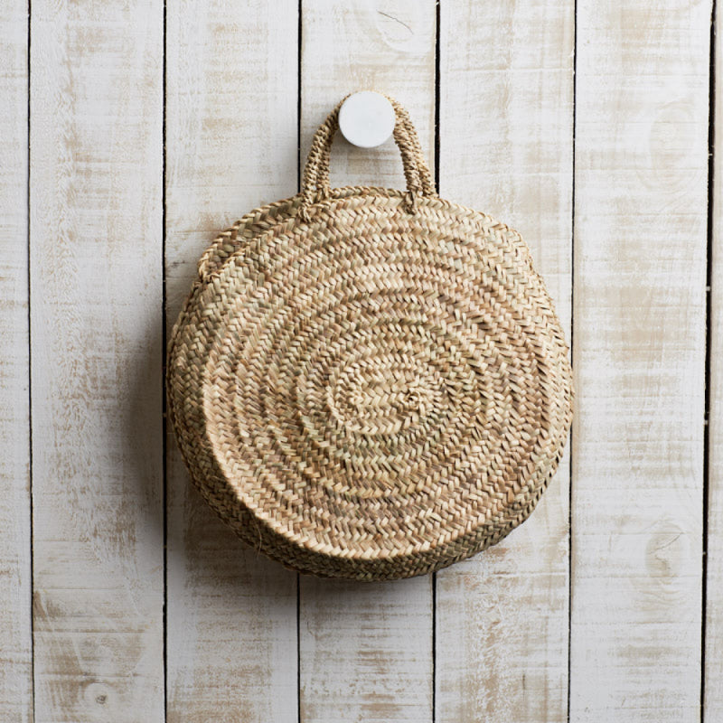 MARKET BASKET - ROUND WITH SISAL HANDLES