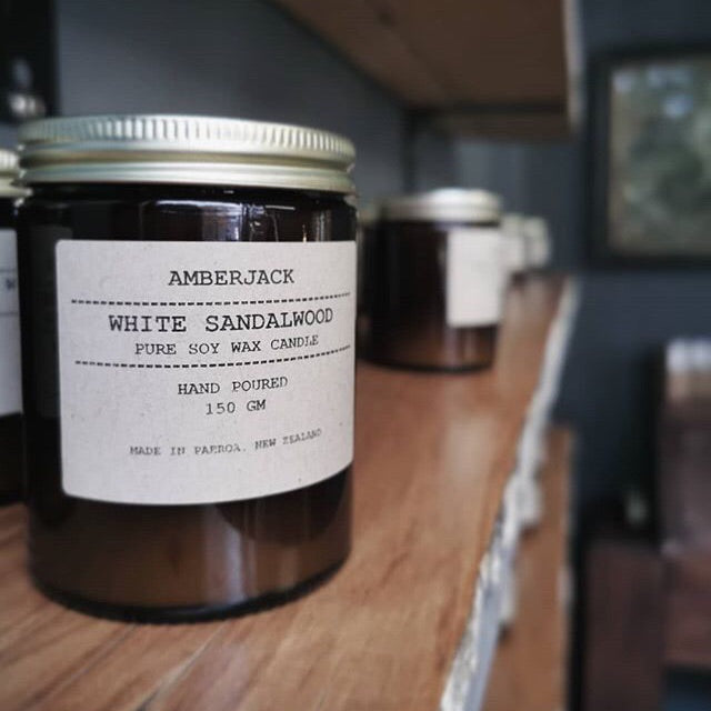 AMBERJACK - WHITE SANDALWOOD - SOY CANDLE | 150GM
