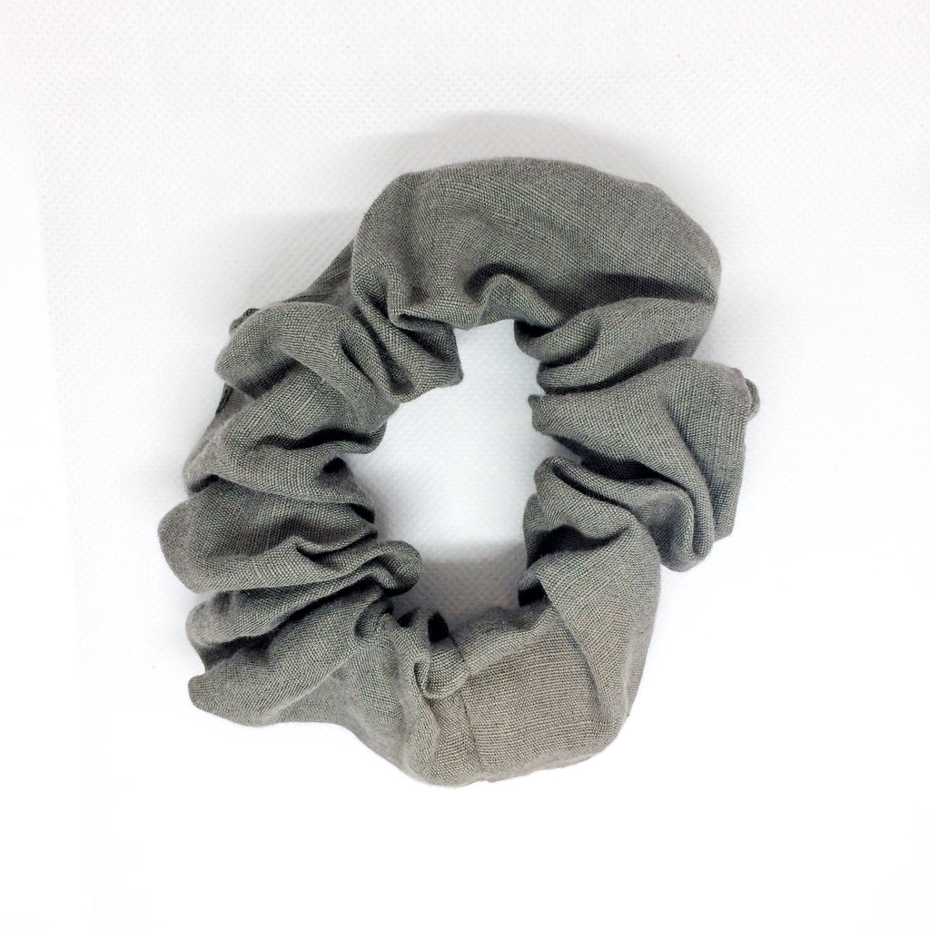 LINEN HAIR SCRUNCHIE | GREEN