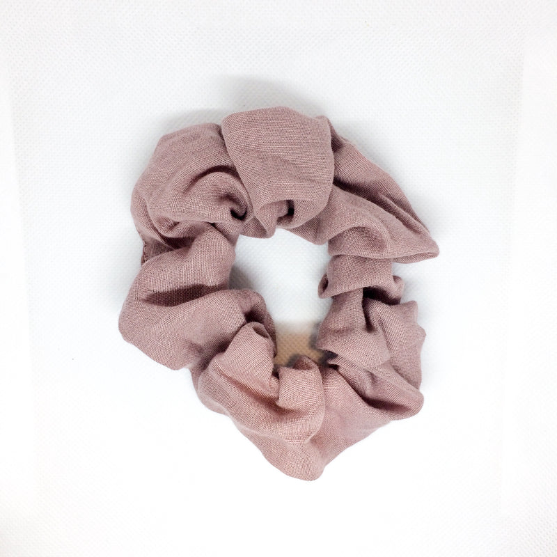 LINEN HAIR SCRUNCHIE | PINK