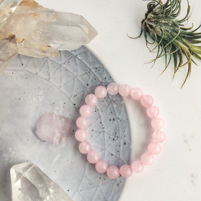 CRYSTAL BRACELET | ROSE QUARTZ