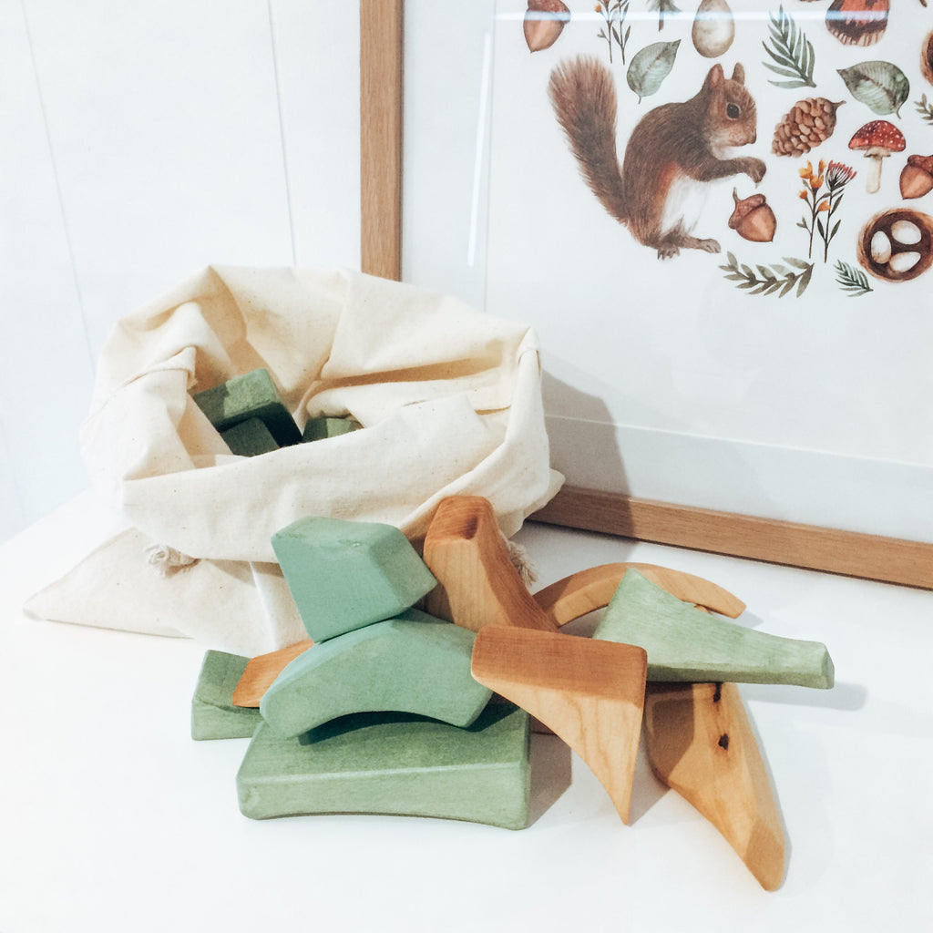 WOODEN BLOCK SET | 22 PIECES