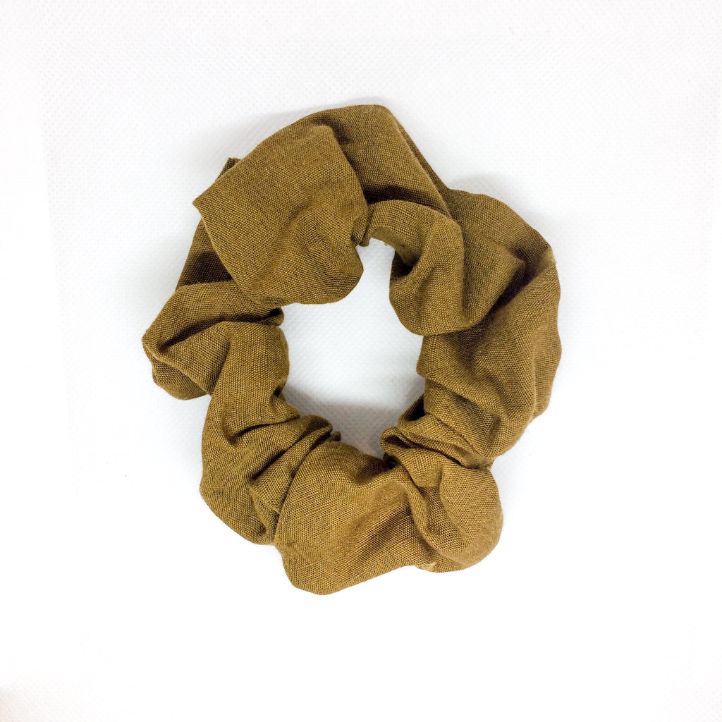 LINEN HAIR SCRUNCHIE | OCHRE