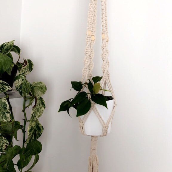 MACRAME POT HANGER | NATURAL