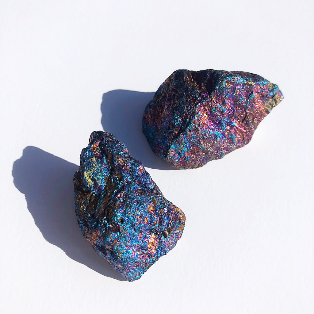 OPAL + SAGE - RAW CRYSTALS | PEACOCK ORE