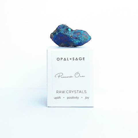 OPAL + SAGE - RAW CRYSTALS | CITRINE