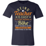 Funny Being A Teacher Is Easy If You're A Superhero T-Shirt