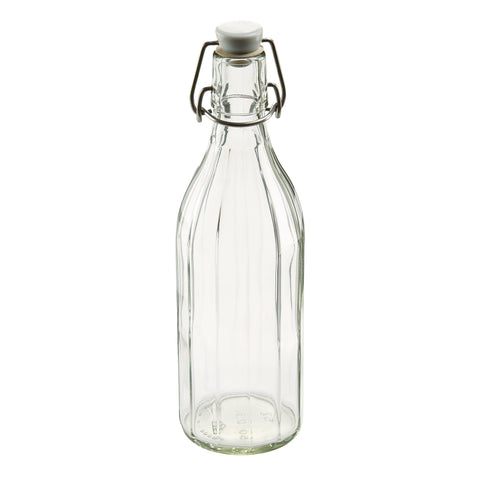 Leifheit Reusable Glass Bottle With Shackle Lock Stopper - Harvey & Haley  - 1