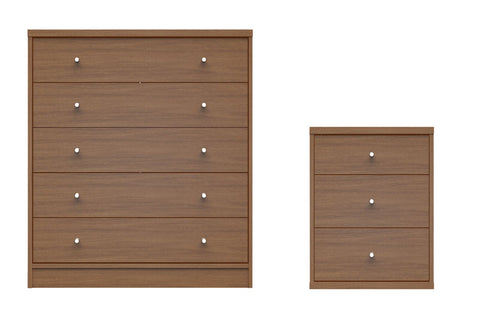 2- Piece  Astor 2.0 Bedroom Dresser and Nightstand Set in Maple Cream