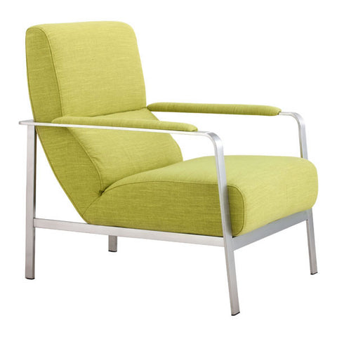 Arm Chair Lime - Polyblend Brushed Stainless Steel