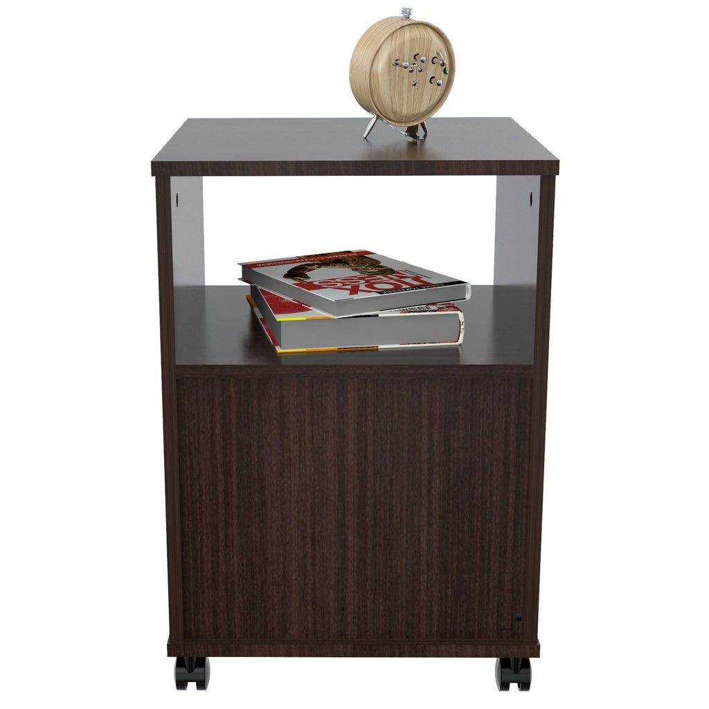 Mobile File Cabinet with One Drawer - Melamine /Engineered wood