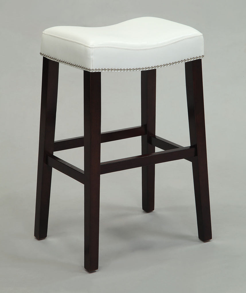 Counter Height Stool (Set-2), Black PU & Espresso - Bycast PU, FR Foam, nail- Black PU & Espresso