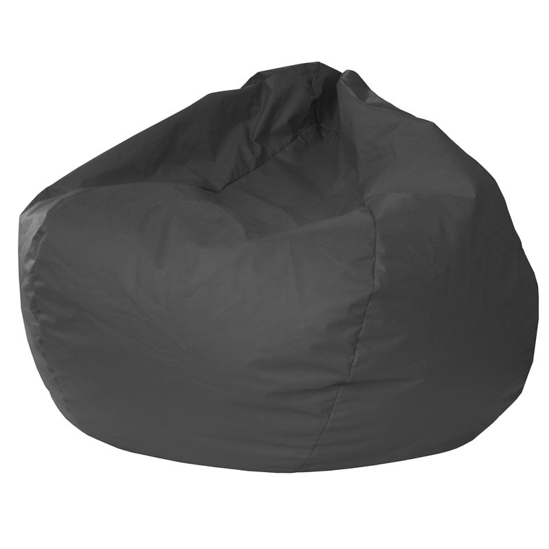 Extra Large Leather Look Vinyl Bean Bag Black