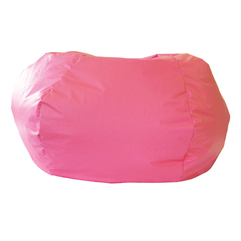 Extra Large Leather Look Vinyl Bean Bag Hot Pink