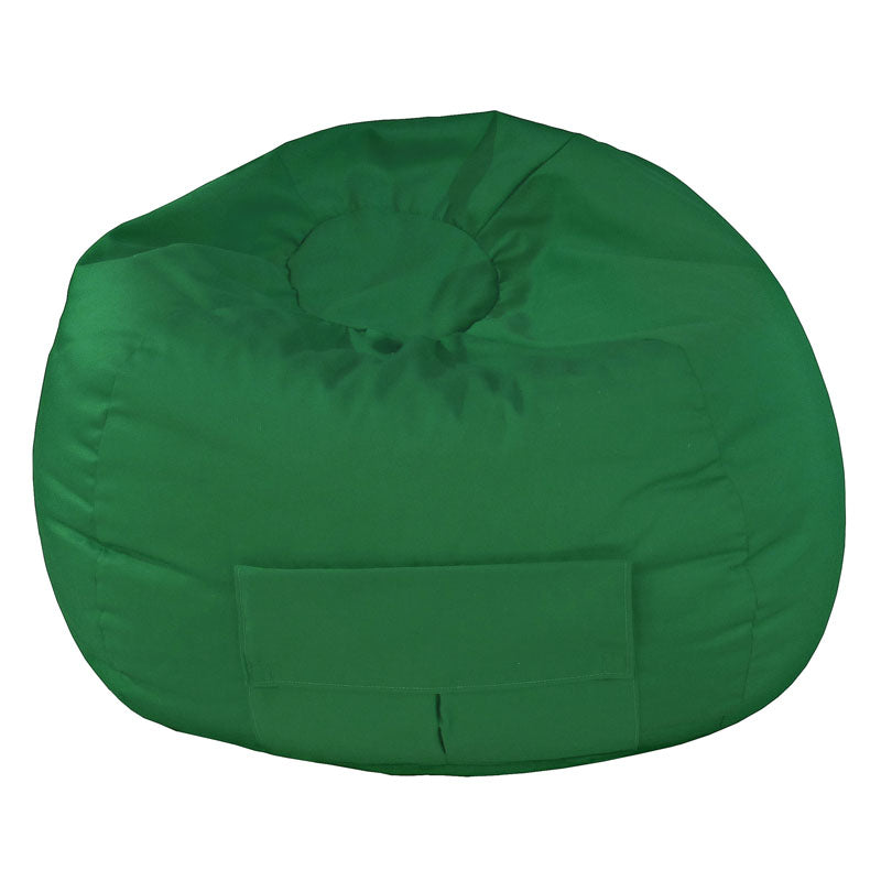 Small/Toddler Denim Look Bean Bag with Cargo Pocket Dark Green